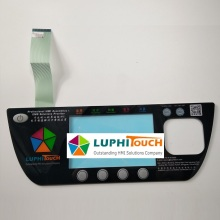 Rubber Keypad LGF Backlighting Membrane Switch