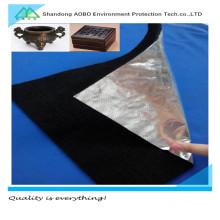 Fieltro de fibra de carbono a prueba de fuego con papel de aluminio para la industria