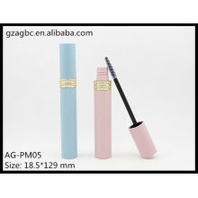 Charmante & leeren Kunststoff Runde Mascara Rohr AG-PM05, AGPM Kosmetikverpackungen, benutzerdefinierte Farben/Logo