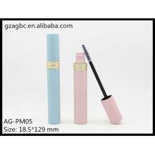 Charmant & vide plastique rond Tube Mascara AG-PM05, AGPM emballage cosmétique, couleurs/Logo personnalisé