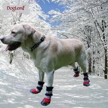 Reflektierende Winter wasserdichte warme große Hund rutschfeste Schnee Stiefel Schuhe