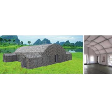 Камуфляжная военная надувная палатка площадью 100 квадратных метров