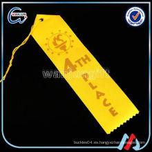 Impresión personalizada de cintas de premio en blanco
