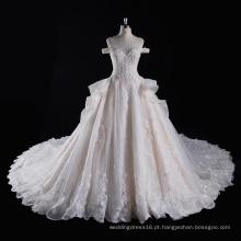 fora do ombro Beading bola vestido de noiva nupcial
