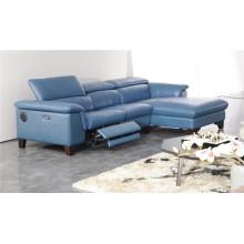 Sofá de salón con sofá moderno de cuero genuino (425)