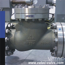 Válvula de retención oscilante soldada y con bridas de acero inoxidable cl900