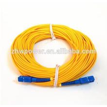 1.5-30mètre SM SX 3mm 9/125 Câble de connexion à fibre optique Câble de raccordement fibre optique SC / UPC-SC / UPC, cavalier à fibres optiques