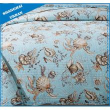 Sea Animal Printed Polyester Gestepptes Bettwäscheset