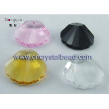 concha de cristal colorido forma grano