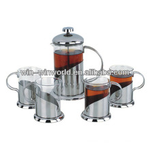 Classic Pyrex French Press Tea Maker Sets