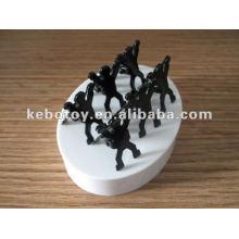 Pessoa magnética grampo escultura escritório dom escultura artes artesanato metal artesanato