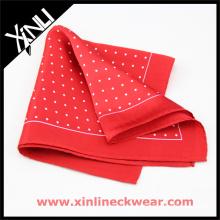 Les hommes ont annoncé tous les carrés roulés faits main de poche de label de la soie 100% avec la boîte-cadeau d'enveloppe