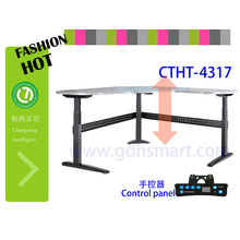 office reception table design desk lifting column solid table top desk