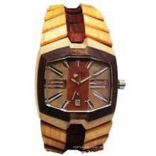 Hlw046 OEM Männer und Frauen aus Holz Uhr Bambus Uhr hohe Qualität Armbanduhr