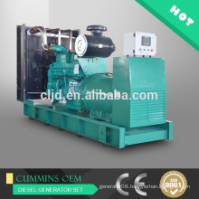 Continuous power plant 500kw,625kva prime power generator with Cummins engine KTA19-G8