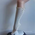 Мечтательные белые кружевные нейлоновые высокие носки принцессы с вышивкой