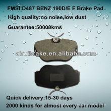 D487 OE QUALITY plaquette de frein à disque basse en métal pour BENZ 190D / 190E