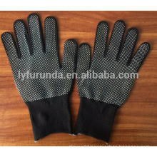 13G nylon working gloves with PVC dots on palm