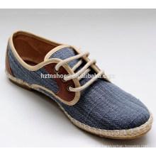 China popular linda lona de conforto mulheres lace-up sapatos causal