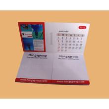 Bloc-notes de poche / Note auto-adhésive / Mémo avec la conception de calendrier de bureau