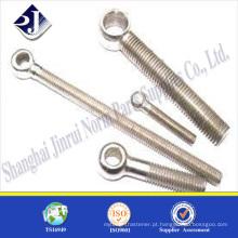 Parafuso de aço inoxidável 304 parafuso de olho de aço inoxidável A2-70 Parafuso de gancho de aço inoxidável