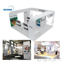 help design 6x6 exhibition stand display from Shanghai trade show booth factory