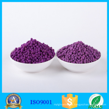 8% KMnO4 alúmina activada, etileno, fruta, absorbedor, mayorista
