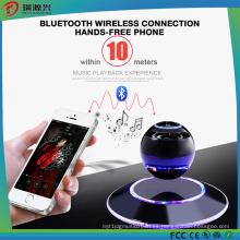 LED multicolor 360 grados y parlantes Bluetooth levitante portátiles-Negro
