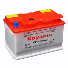 Auto Dry Charged Battery 12V 66ah for European Car Starting Battery DIN66-56618