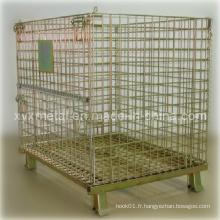 Conteneur à cage en métal galvanisé empilable Euro Style