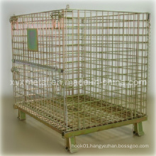 Euro Style Stackable Galvanized Metal Wire Cage Container