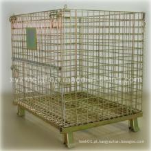 Recipiente de gaiola de metal galvanizado empilhável Euro Style