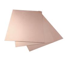 Hoja de cubierta de cobre de aluminio