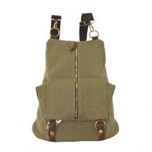 Foldable Zipper Flap Canvas Backpack Zxk1028