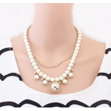 Factory Outlet exquisite vintage Pearl Necklace chain multi-layer beaded fashion choker necklaces wholesale