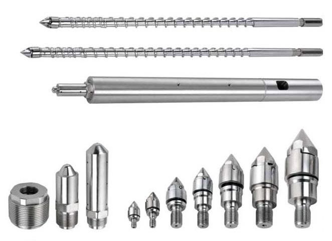 Injection molding screw barrel