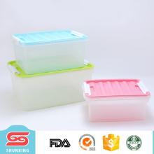 Capacité différente bacs de stockage en plastique bon marché pratiques pour la vente en gros