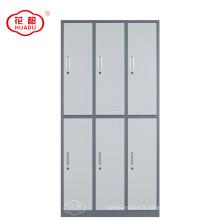 Meuble de bureau en métal 6 portes en acier fin