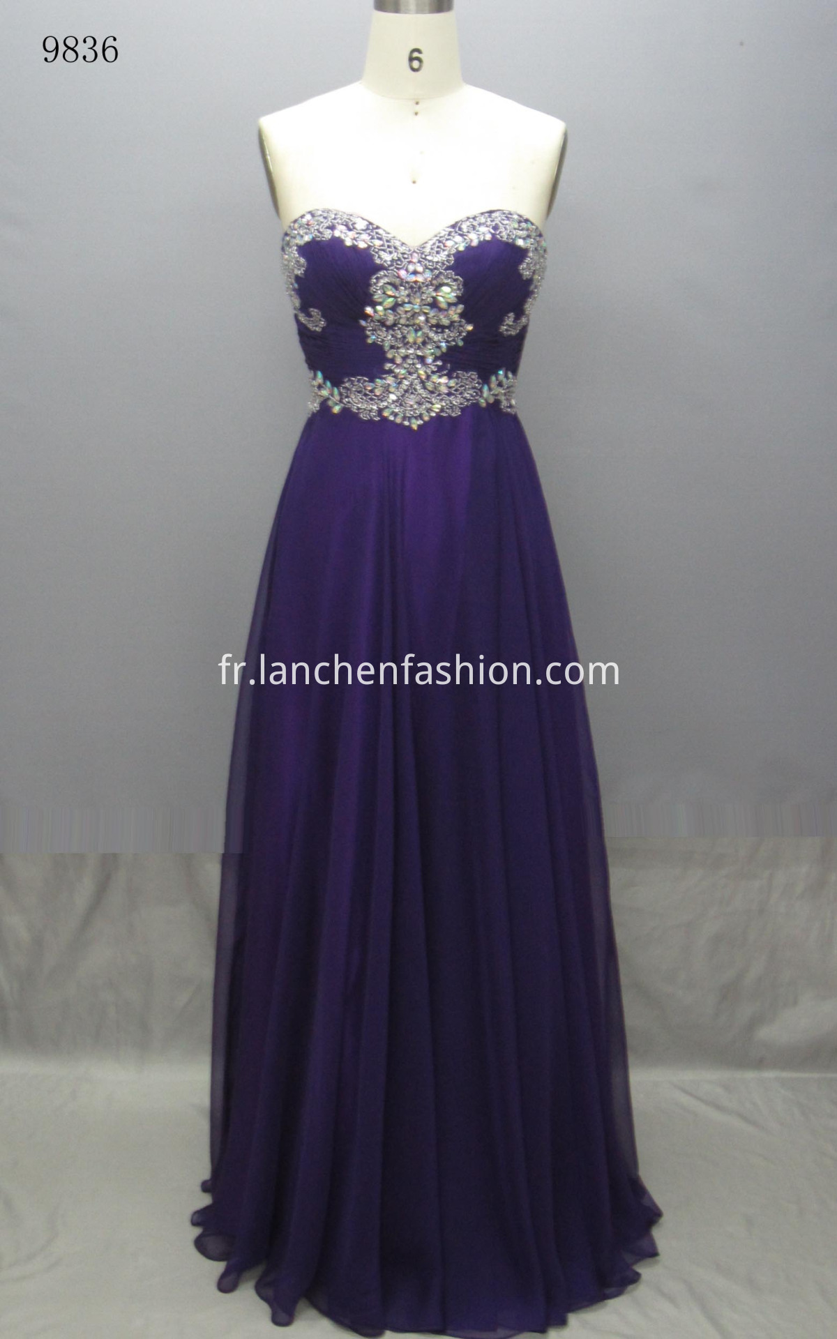 Sleeveless Elegant Dress PURPLE