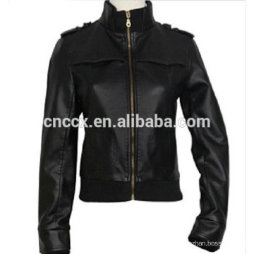 15PKPU08 2016 winter fall fashion pu leather jacket for men