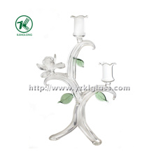 Glass Candle Holder for Holiday Decoration (22*14*32)