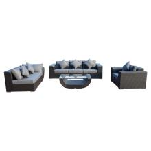 outdoor corner rattan sofa sets with coffee table garden rattan furniture