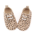 New Design Handmade Leopard Baby Shoes Oxford