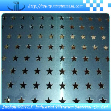 Five-Pointed Star Punching Hole Sheet