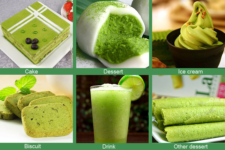 organic matcha powder for ice cream, food, tea