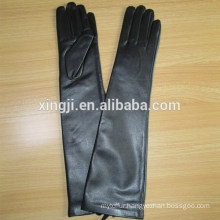 Ladies Long Genuine Soft Nappa Leather Gloves