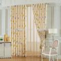 Decoración para el hogar Cortina de cortina de hojas impresas Home Curtains