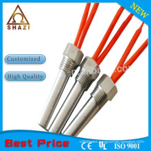 electric powered cartridge heating element with thread fitting