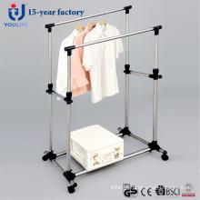 Duplo-haste de aço inoxidável forte cabide secagem de roupa