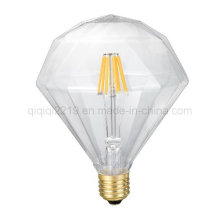 Flat Diamond 6W Transparent Decoration Bombilla LED